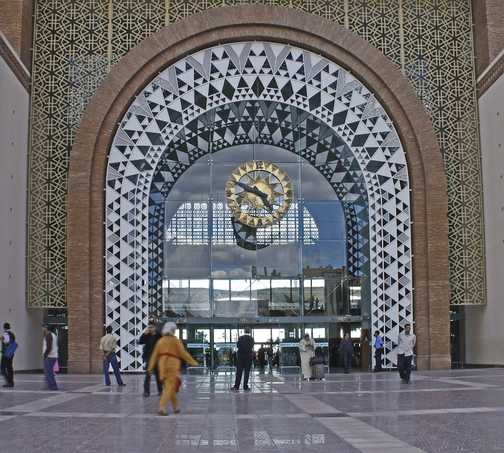 Facade of the new Marrakesh station