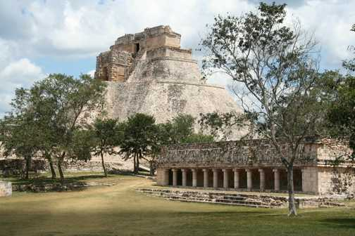 Pyramid of the Magician from the Governor's Palace, Uxmal