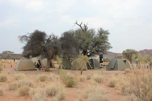 ...a row of tents