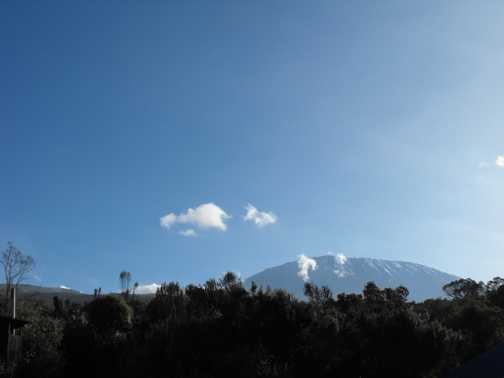 first view of kili from simba camp