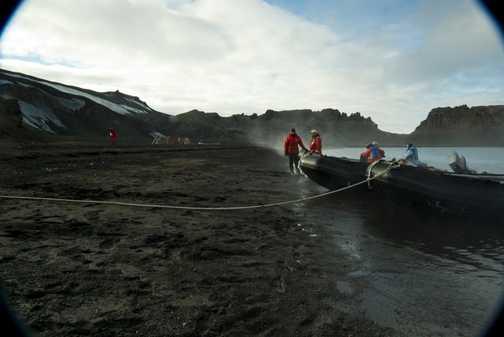 Deception Island At the landing