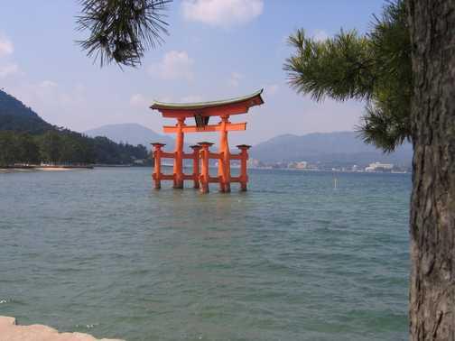 Shinto gate to Miyajima island