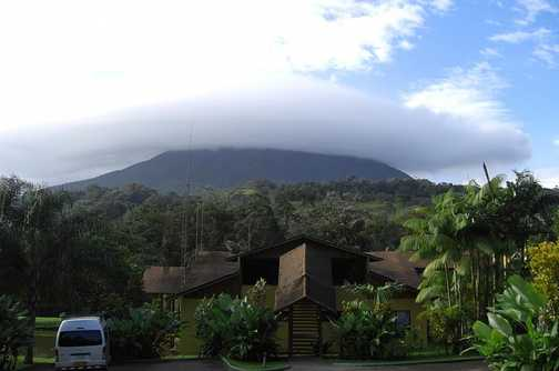 Our hotel at the foot of the Arenal volcano