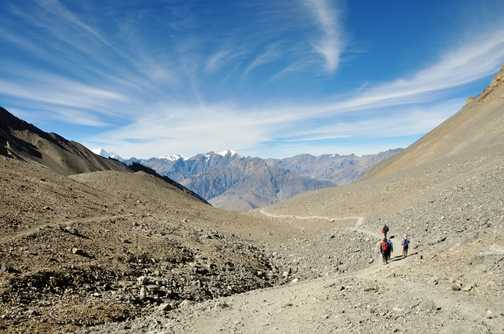 The walk to Jomsom