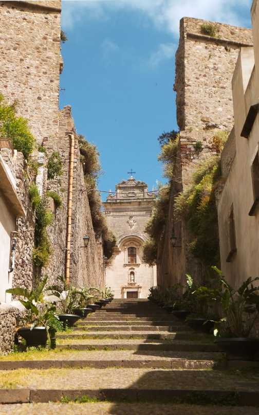The steps to the church in Lipari