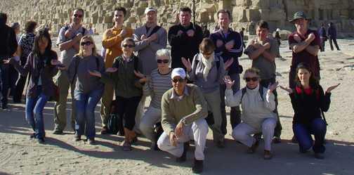 Group shot at the Pyramids
