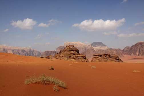 Desert colour Wadi Rum