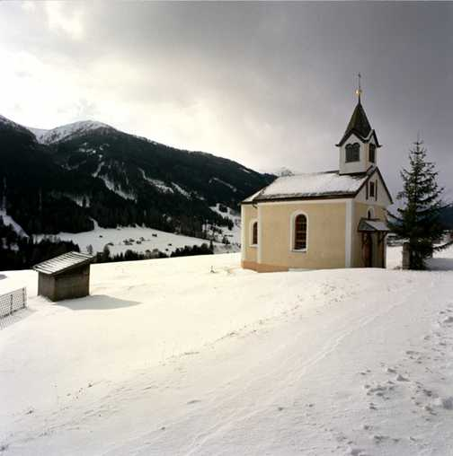 Last day in Trins Valley - small church before arriving in Trins