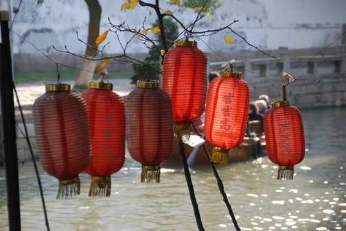 Lanterns by the canals of Tongli