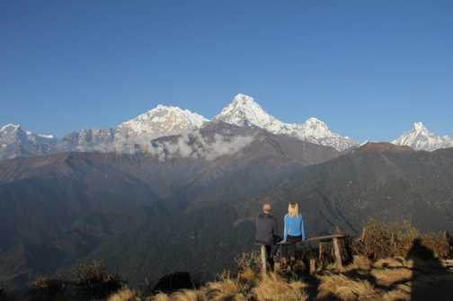 Time to dream - looking across from Poon Hill before sunset