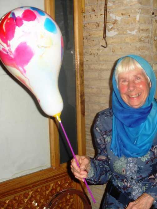 Ann the birthday girl . . . Yazd.