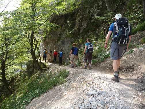 Day 1 - Start of walk near the Ljubelj Road Tunnel