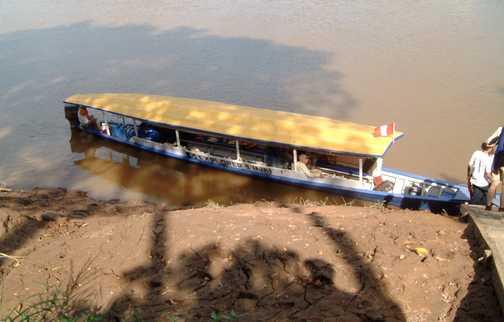 Puerto Maldonado the motorised canoe the beginning