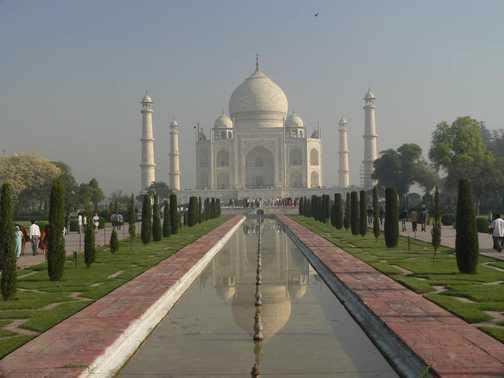 Taj Mahal in full daylight