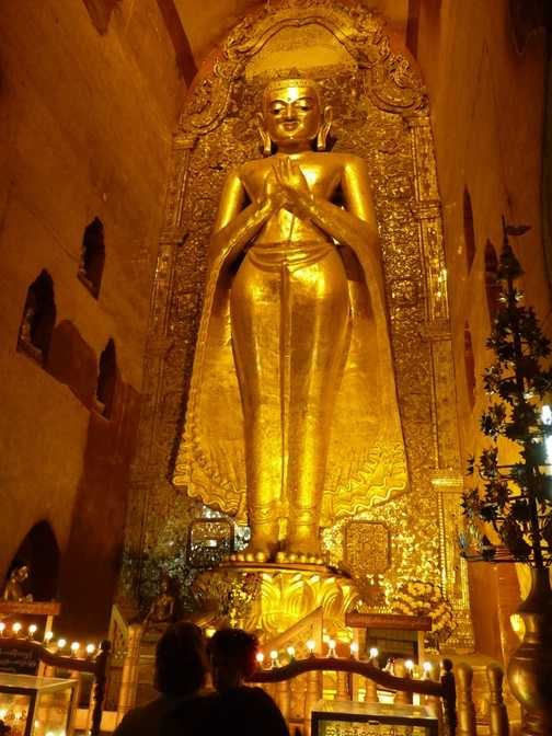 A huge Buddha in Shwezigon Pagoda, Bagan