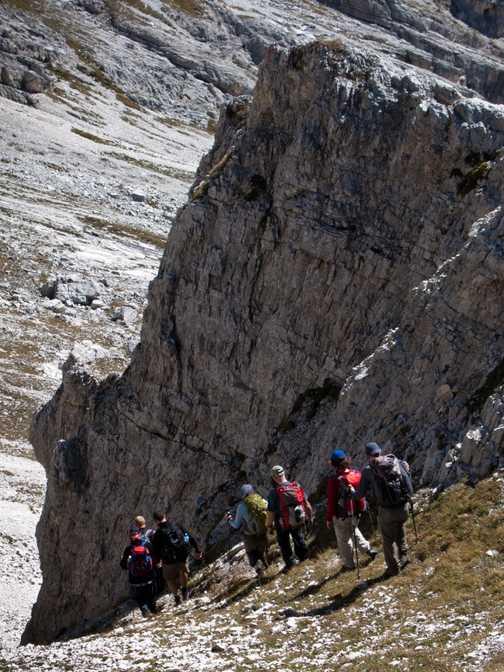 Traversing the ridge.