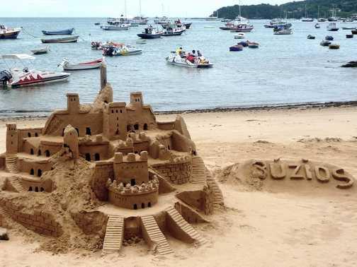 Buzios sand castle
