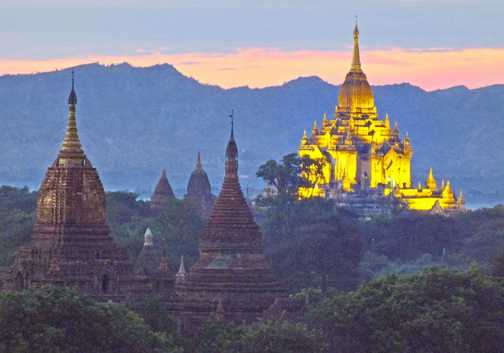 Sunset across Bagan