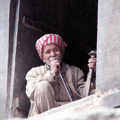 Old man & pipe
