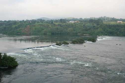 the White Nile close to its source at Jinja on Lake Victoria