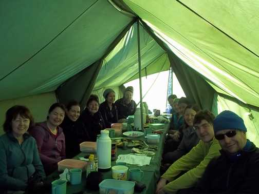 last breakfast in the mess tent