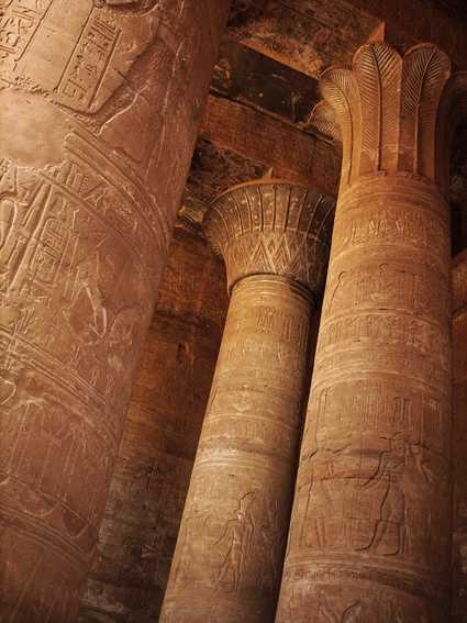 Temple pillars