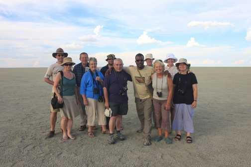 Team Photo Namibia - Etosha Pan, November 2009