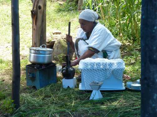 Coffee ceremony at the Kindu Trust