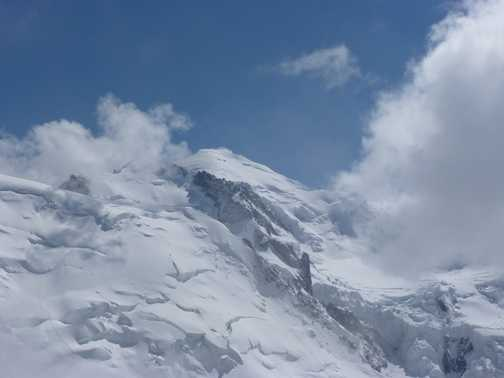 Mont Blanc from Auguille du Midi