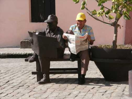 man and his statute Trinidad