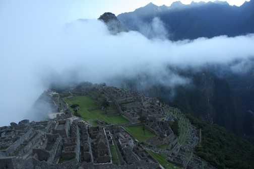 Dawn at Macchu Picchu