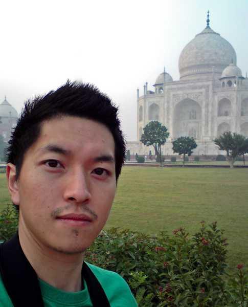 Part of the group at the Taj Mahal