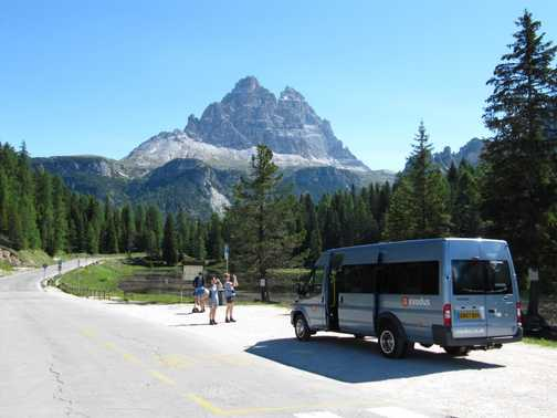 Photo stop!  The Dolomites, Italy