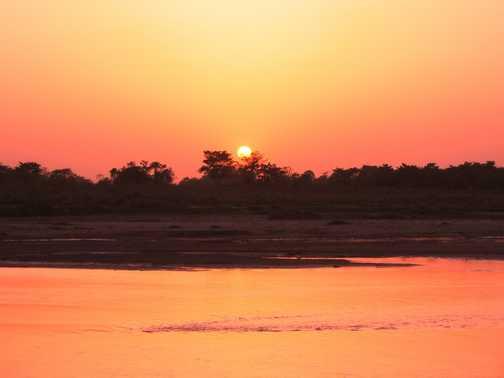 chitwan sunset
