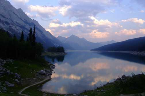 Medicine Lake at evening
