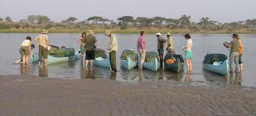 Canoes on the Zambezi