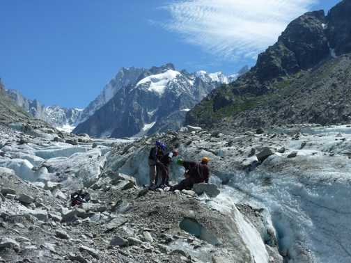 ice training on mer de glace