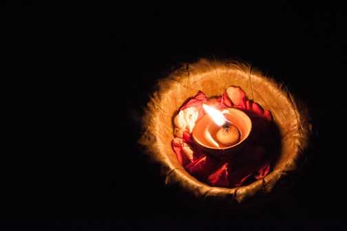 Night time ceremony, Varanasi