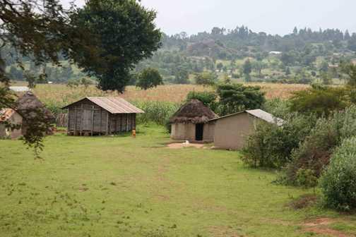 village scene Uganda