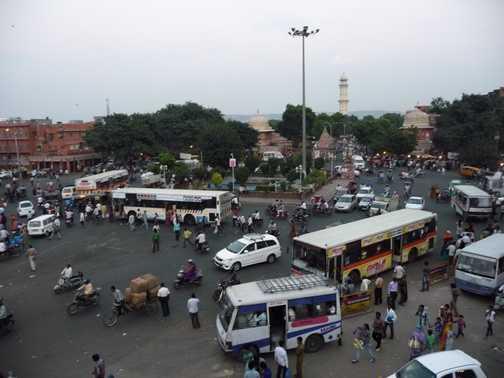 Traffic chaos in Jaipur