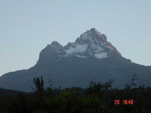View of Mawenzi from 1st Camp