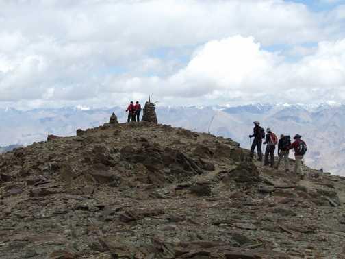 Stok Kangri between Mankarmo and Base Camp