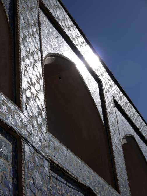 Sunlight on the Mosque . . . Esfahan.