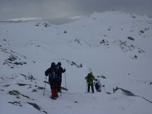 Snowshoeing at Svinslaberge 3