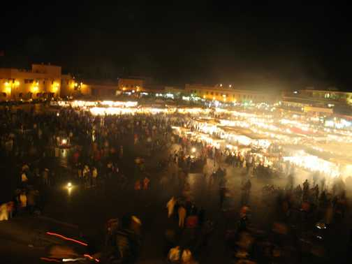 Djemaa El-Fna by night