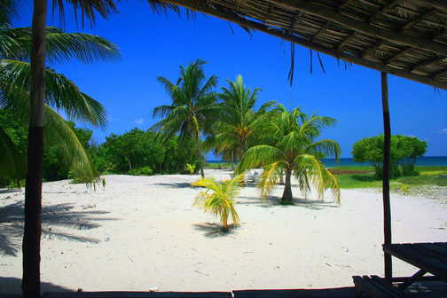 Desert island beach