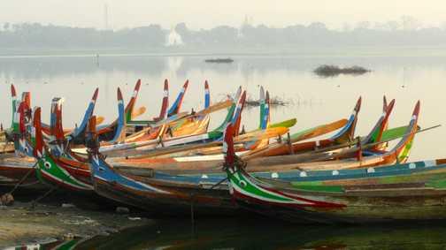 Boats at U-Bein bridge