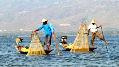 Fishermen at Inle Lake