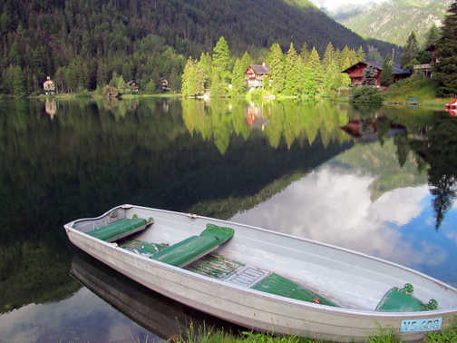 Neil Pittaway The lake at Champex