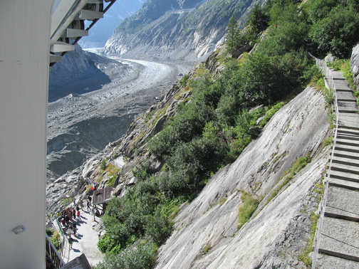 Neil Pittaway View from the train, Chamonix valley